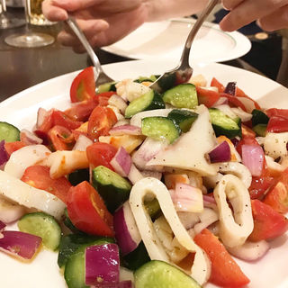 エビと野菜のコロコロマリネ(カフェ ドルチェ (cafe DOLCE))