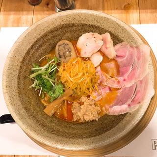 葱油と蒸し鶏の白味噌らーめん(創作らーめん style林 (ソウサクラーメン スタイルハヤシ))