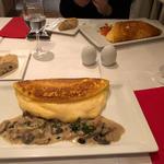 キノコのクリームリゾットとフォアグラのオムレツ(ミラキュルーズカフェ )