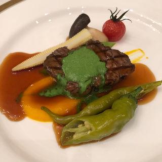 牛フィレ肉の炙り焼き(阪神獺祭の会)(ウェスティンホテル大阪 )