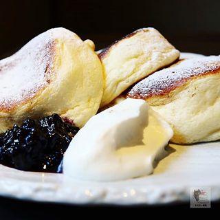 国産有機小麦を使った「たもん」のパンケーキ(cafe たもん)