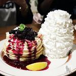 ブルーベリーレアチーズパンケーキ