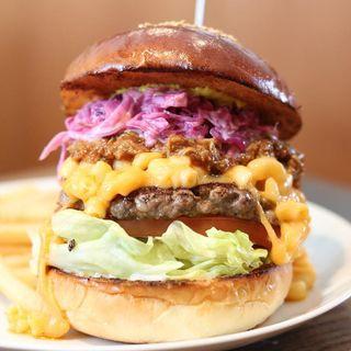 プルドポークマカロニチーズバーガー(エース バーガー カフェ (Ace Burger Cafe))