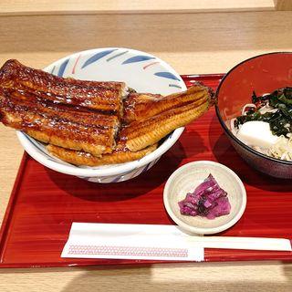 はみ出るうな丼とお蕎麦セット(そばえもん 川崎アゼリア店)