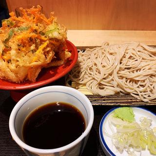 もりそば大&かき揚げ(いわもとQ 神保町店 (イワモトキュー))