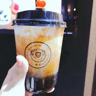 チーズミルクフォーム特級ジャスミン茶 タピオカトッピング(綿茶 田町店)