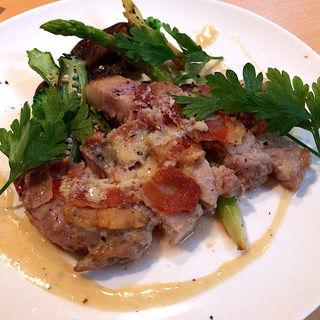 三重豚のロース肉のサルティンボッカ(トラットリア・イタリカ)