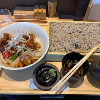 鶏甘酢あんかけ丼セット(蕎麦きり みよた)