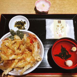 白えび天丼(お吸物、小鉢付)(白えび亭 )