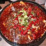 牛肉の唐辛子煮込み(四川料理 芙蓉麻婆麺 (フヨウマーボーメン))