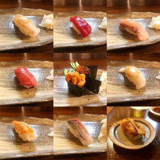 おまかせ10貫(大八寿司)