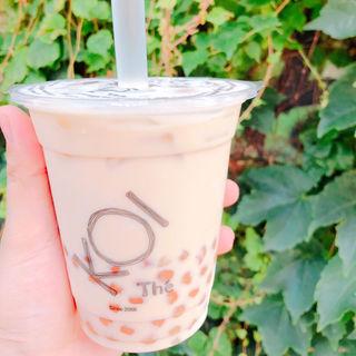 アイスミルクティー タピオカトッピング(KOI Thé)