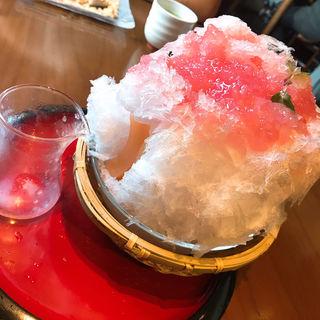 かき氷 (桃)(船橋屋 こよみ 広尾店 (フナバシヤコヨミ))