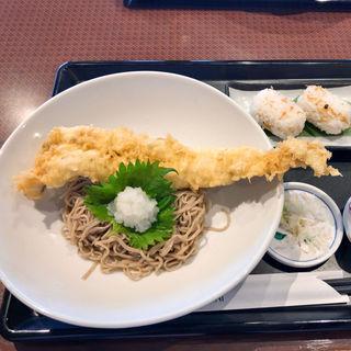 国産穴子の一本天ぷらぶっかけ蕎麦(ランドマーク )