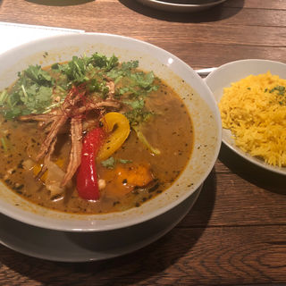 野菜とラムしゃぶのスープカレー(無添加薬膳スープカレー COSMOS)