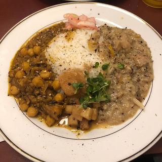 カレー2種盛り(カリーショップ豆くじら)