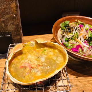 蟹の甲羅焼き(近江町・海鮮市場料理 市の蔵 (いちのくら))