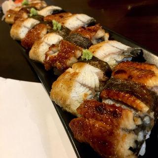 鰻握り盛り(旬味旬菜 大和)