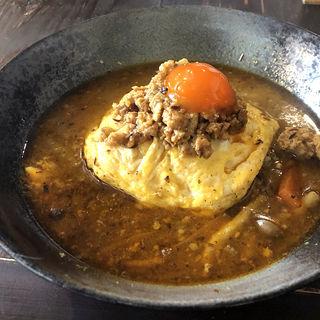 鶏親子スープカレー 正月バージョン(wacca (輪っ家))