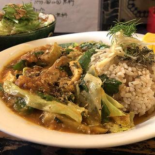 色々野菜と鶏肉のレンズ豆カレー(北浜酒場 GORI)