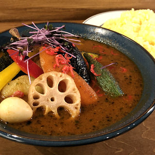 チキンベジカレー(海老スープ・大辛)(サッポロ スープカレー ジャック (Sapporo Soup Curry JACK))