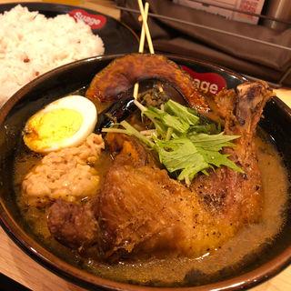 チキンレッグと野菜カレー(スアゲ 渋谷店)