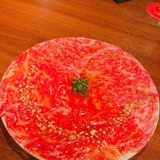 日本一のサーロイン・ユッケ ハーフ&ハーフ(麻布十番焼肉Kintan (キンタン))