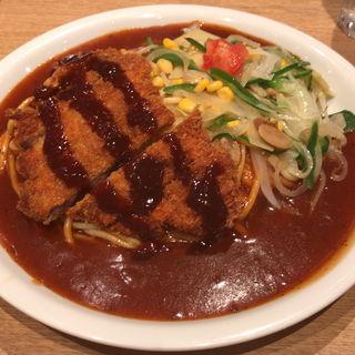 味噌カツあんかけスパ(J)(スパゲティハウス チャオ JR名古屋駅新幹線口店 )