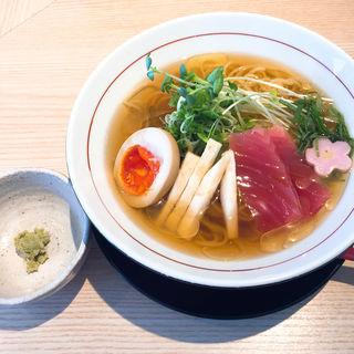 冷やし2〜マグロと山芋(拉麺開花)