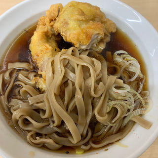 鶏天極太麺(極上焼鳥 極上もつ焼き 雑賀 関屋駅前店 )