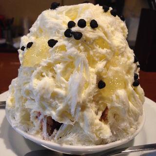 かき氷 レモンとミックスベリーのレアチーズ仕立て ミニ(セバスチャン)