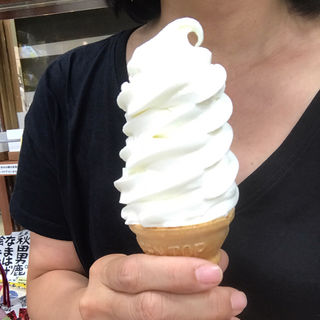 牛乳屋さんのソフトクリーム(秋田ふるさと館 )