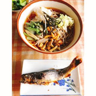 岩魚の塩焼き(大内宿 浅沼食堂)