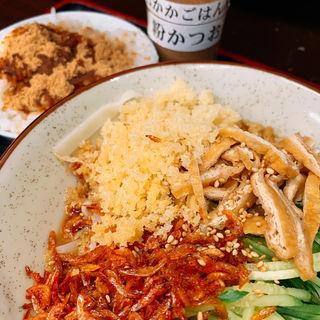 冷やしむじな蕎麦 半ライス(そばよし 京橋店)