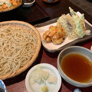 かき揚げ天そば(平日のみ)(手打蕎麦おかむら)