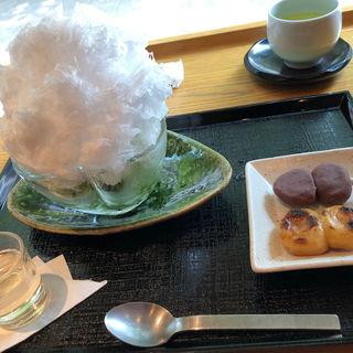 氷抹茶とミニ団子セット(はぶたえ 日暮里駅前店 (HABUTAE))
