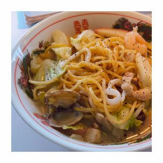 ちゃんぽん風スパゲッティ(田園調布シークレットパスタ会)