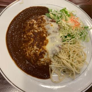チーズハンバーグ デミソース(キッチンジロー アルカッキット錦糸町店 )