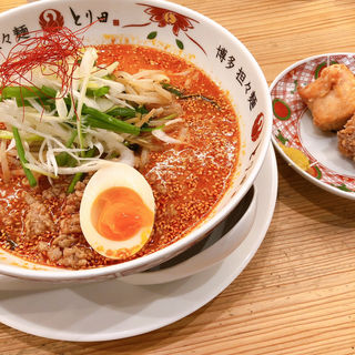 とり田セット(博多担々麺 とり田 福岡パルコ店)
