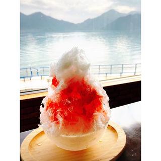 日光天然氷のかき氷 とちおとめ(コーヒーショップ スプーン )