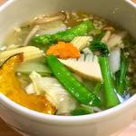 野菜スープそば