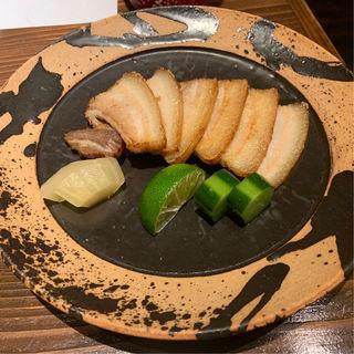 スーチカー(塩漬け豚三枚肉)のスモーク