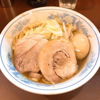 らーめん麺少なめ+味玉
