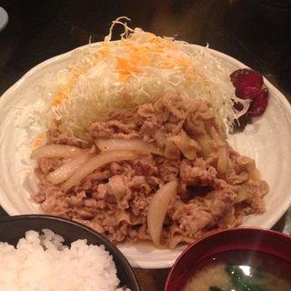 生姜焼き定食(金魚鉢 )