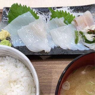 イカ刺し定食(函館まるかつ水産 汐留シティセンター店)