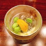 ウニと枝豆の上湯ジュレ