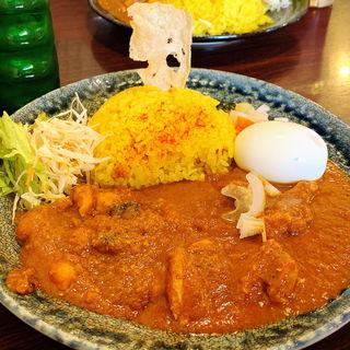 ひよこ豆ひき肉カレーとチキンカレー(スパイスのこうちゃん)