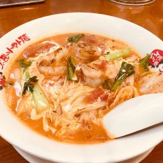 海老たまごのクリームトマト麺(太陽のトマト麺 京急川崎支店)
