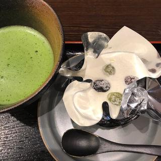 絹ごし緑茶てぃらみす&抹茶セット(一乗寺中谷 (いちじょうじなかたに))