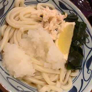 蒸し鶏ぶっかけ  大(丸亀製麺川崎ソリッドスクエア店)